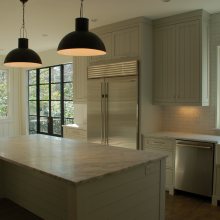 buckhead design kitchen with island bar from atlanta home builders Siegel construction and interior design